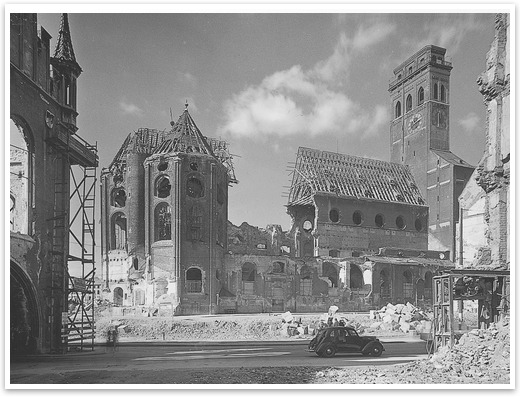 San Pedro, tras la guerra. /WEB