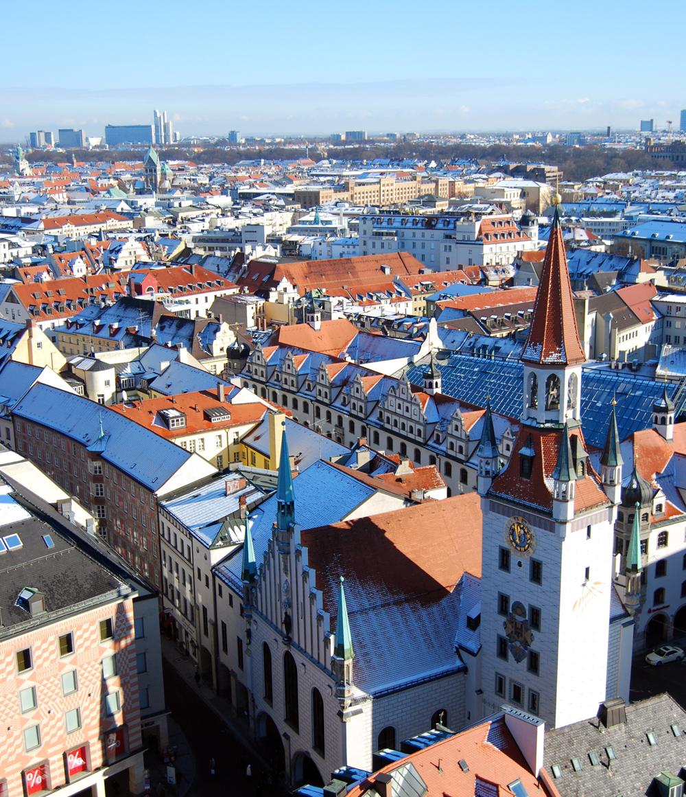 Vista aérea del Altes Rathaus