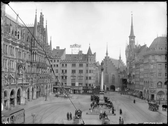 Marienplatz en 1910. /MUENCHEN.DE