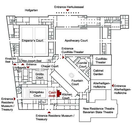 Plano de la Residenz