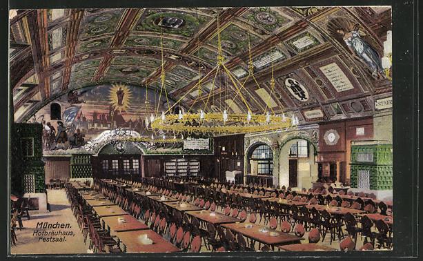 Imagen antigua de la Festsaal. /HB
