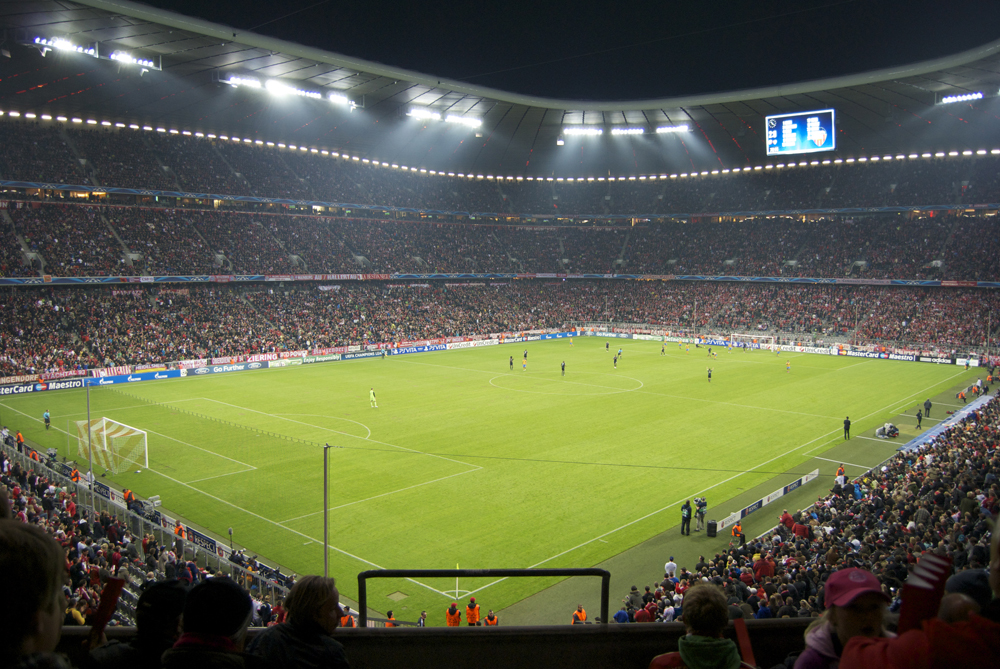 Partido de Champions League en el Allianz Arena