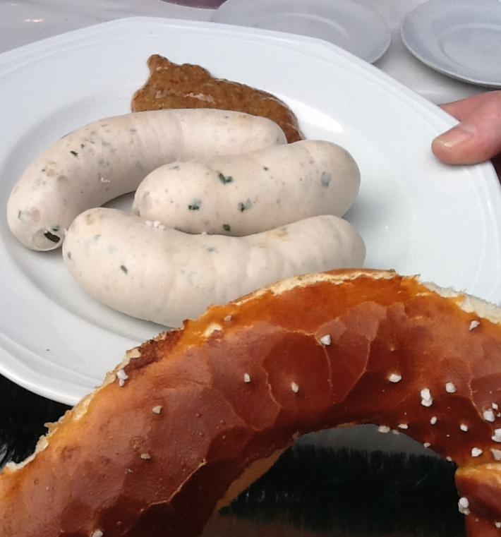 Weisswurst, salchicha de desayuno