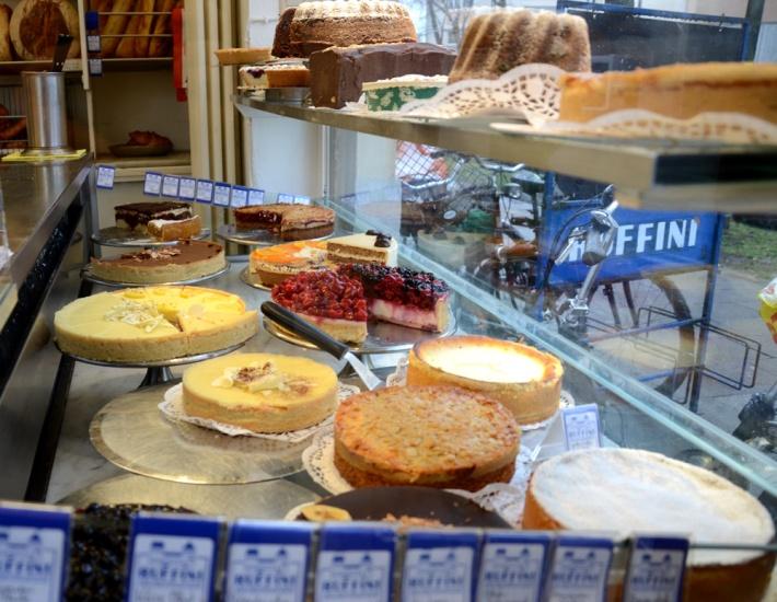 Tartas en la pastelería de Ruffini