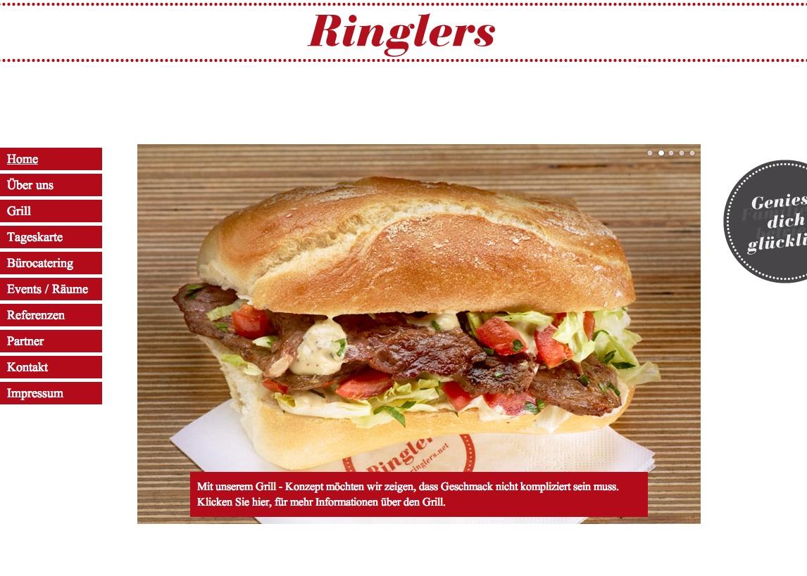 Captura de pantalla de la web de Ringlers