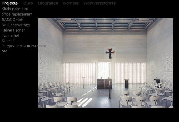 Interior de la evangelista Sophienkirche; web de Florian Nagler