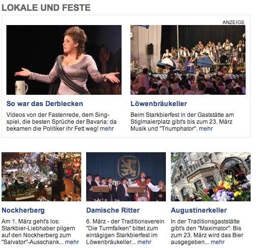 Captura de pantalla localizaciones Starkbierfest./ WWW.MUENCHEN.DE