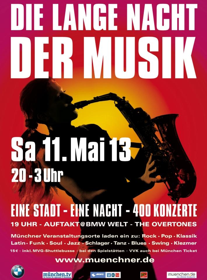 Cartel de la Larga Noche de la Música 2013 en Múnich