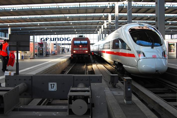 Trenes en la estación de Múnich