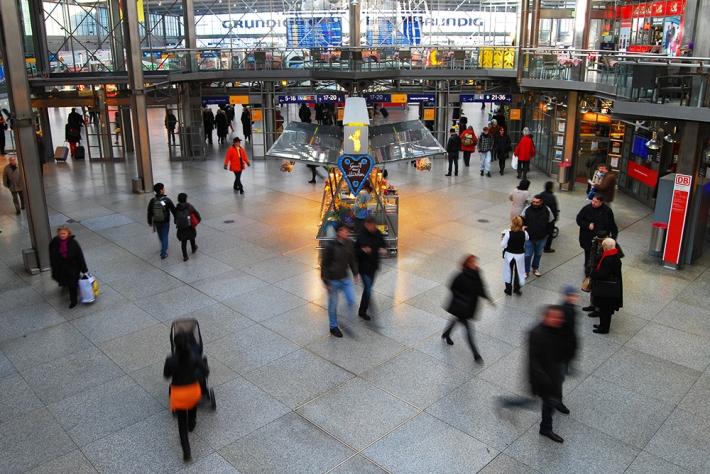 Vestíbulo principal de Hauptbahnhof en Múnich