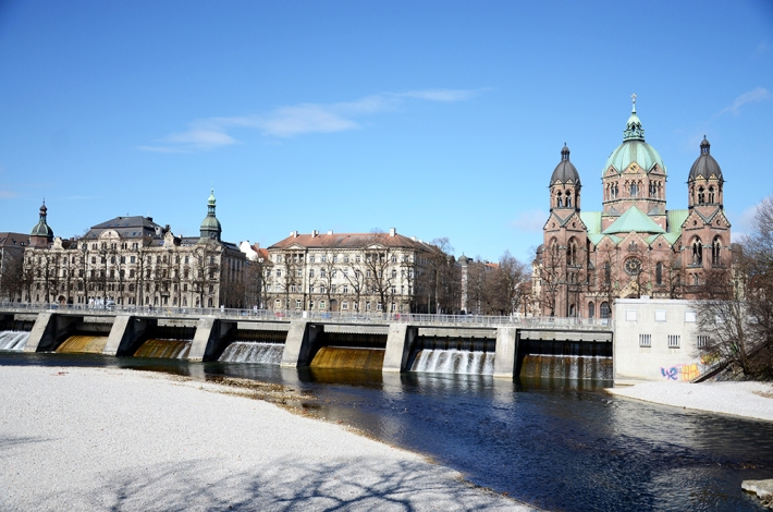Río Isar a la altura del Altstadt