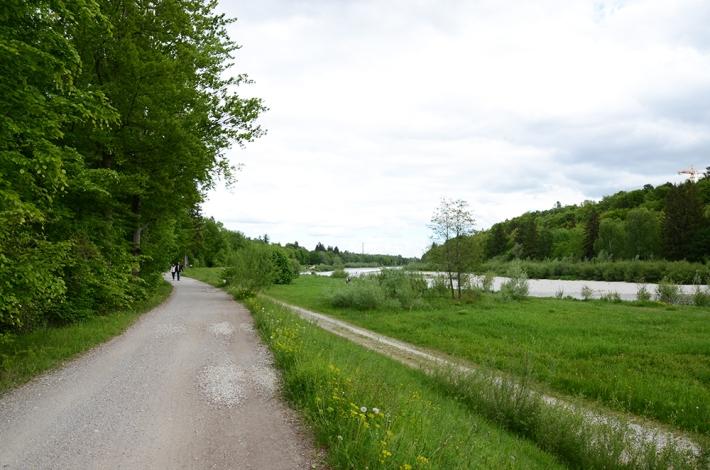 El Isar al sur de Múnich, cerca de Solln