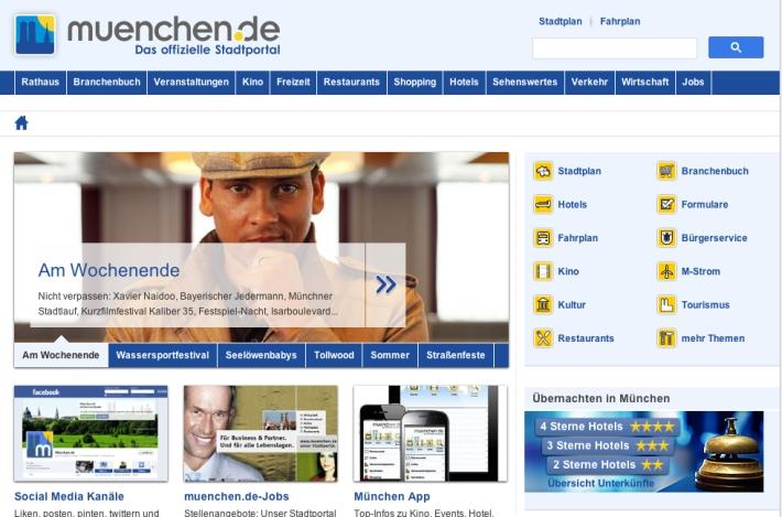 Captura de pantalla de 'muenchen.de'
