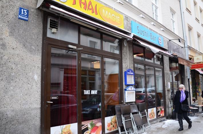 El Sushi Magie, desde la calle