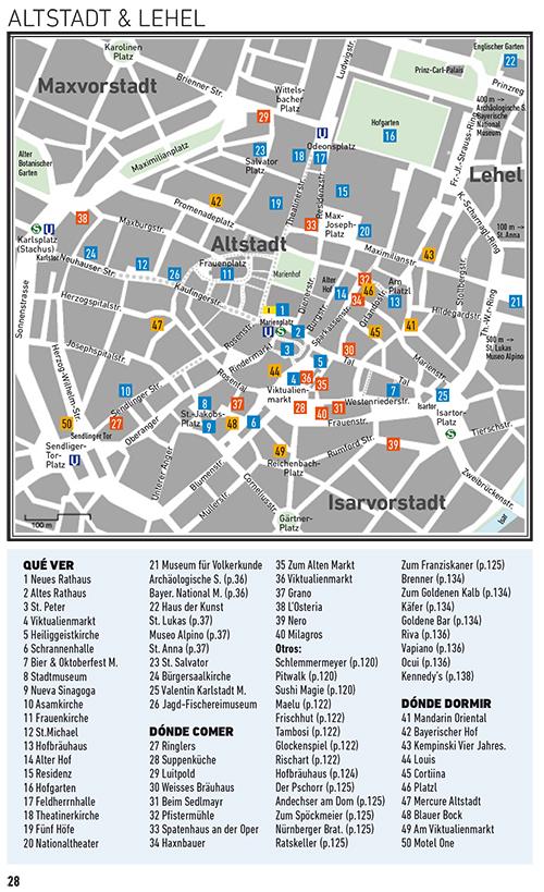 Un mapa de la guía