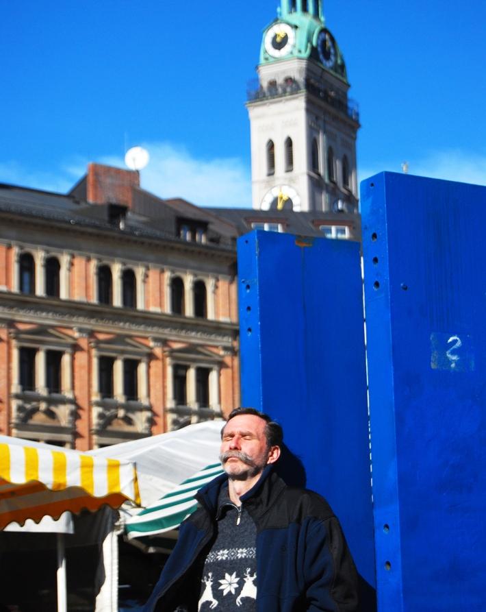 Aunque en soledad, un momento muy 'gemütlich' en Viktualienmarkt