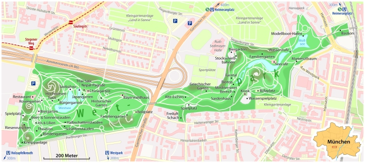 Mapa del Westpark . /CHUNMWA CC