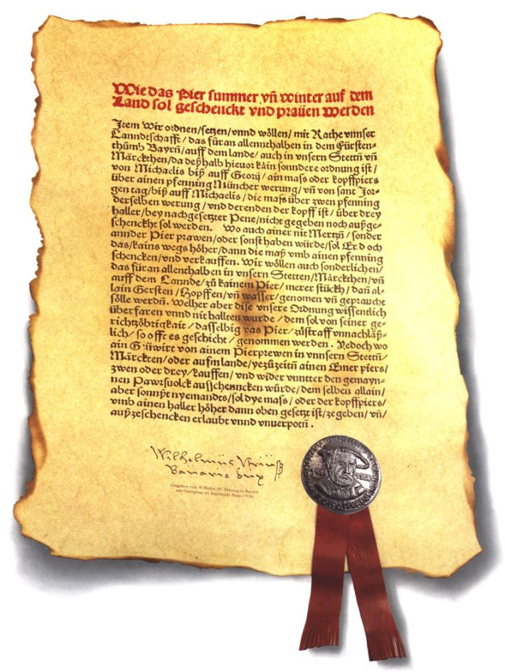 Versión del manuscrito de la Ley de la Pureza de 1516. /WEB