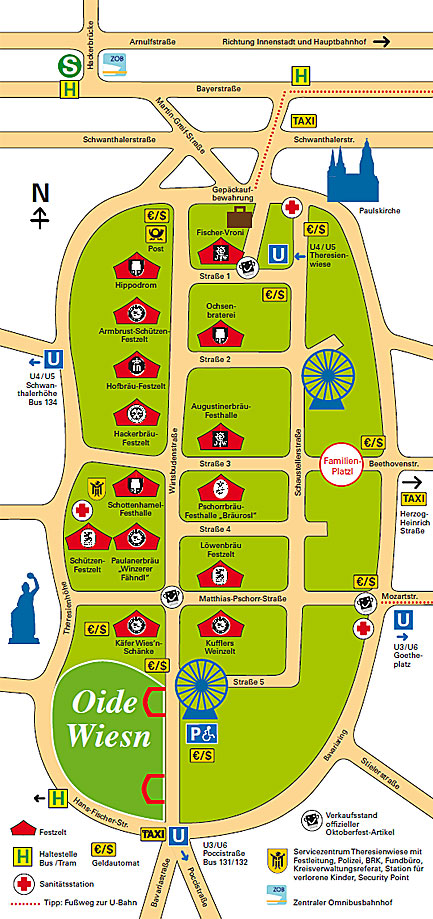 Plano de situación de Oktoberfest 2013