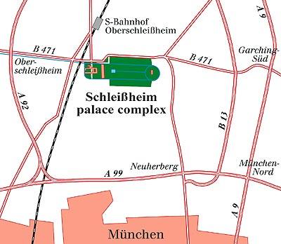 Mapa de ubicación y accesos. /B.V.SCHLÖSSER