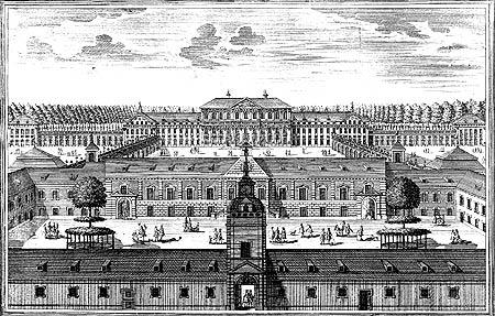 Palacios. Grabado de 1722. /B.V.SCHLÖSSER