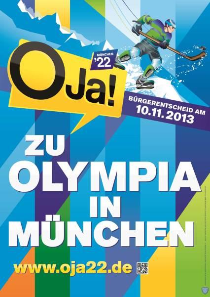 Cartel a favor de los Juegos de 2022 en Múnich. /WEB