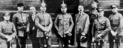 Hitler y otros protagonistas del Golpe de Múnich. /WEB