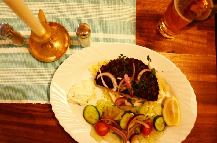Bifteki, en el menú de mediodía