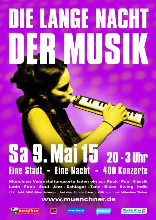 Cartel de Die Lange Nacht der Musik 2015
