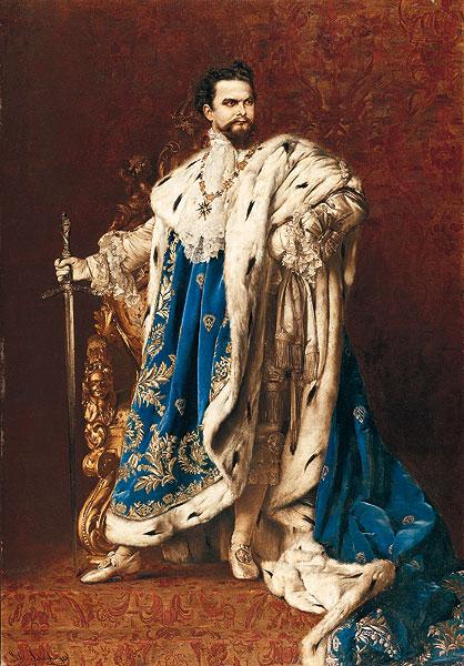 Luis II ataviado como caballero de la Orden de Caballería de San Jorge. / BAYERISCHE SCHLÖSSER