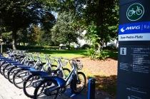 Estación de bicis en Gern