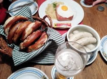 Típico desayuno bávaro