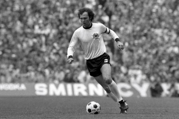 Franz Beckenbauer, con la selección alemana. /WEB