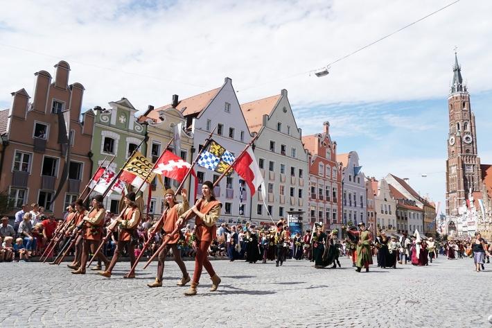 Boda de Landshut: desfile del domingo